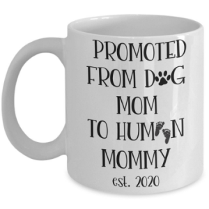 promoted-from-dog-mom-to-human-mommy-mug