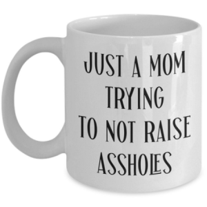 just-a-mom-trying-to-not-raise-assholes-mug
