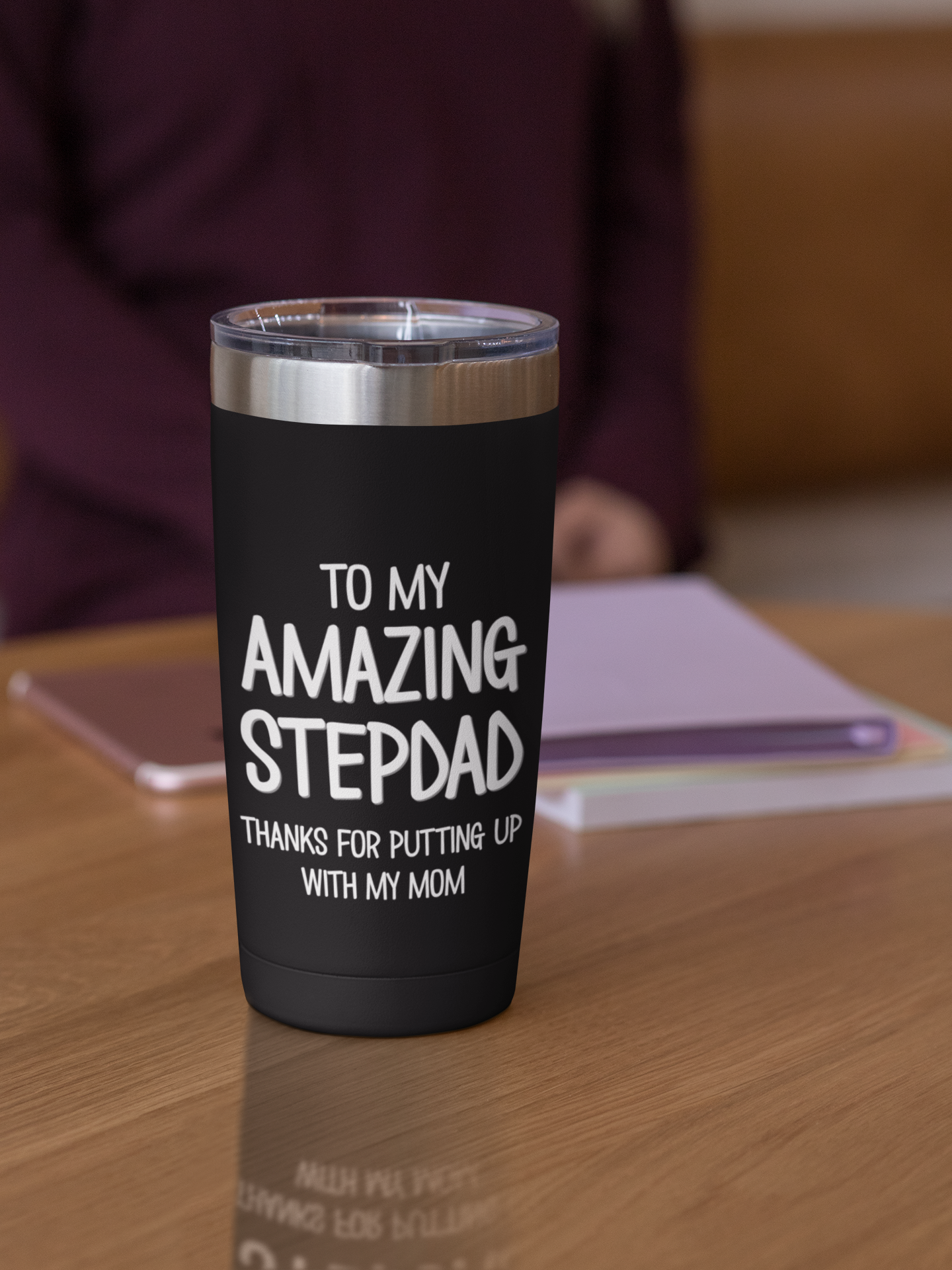 mockup-of-a-20-oz-travel-mug-over-a-wooden-surface-30413