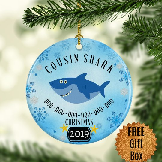 cousin-shark-ornament