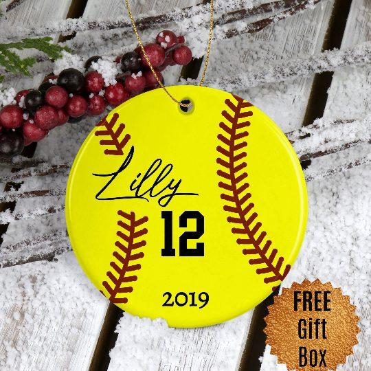 softball-Ornament