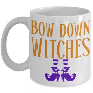 bow-down-witches-mug