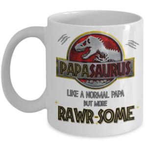 Papasarus-rawrsome-mug