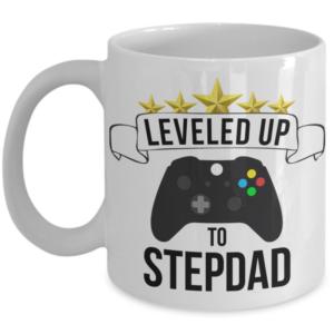 leveled-up-to-stepdad-mug